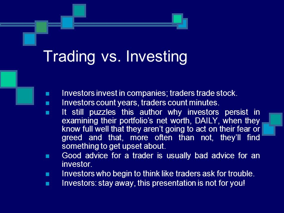 Trading vs.Gambling Good traders love gamblers, they provide them with their income.