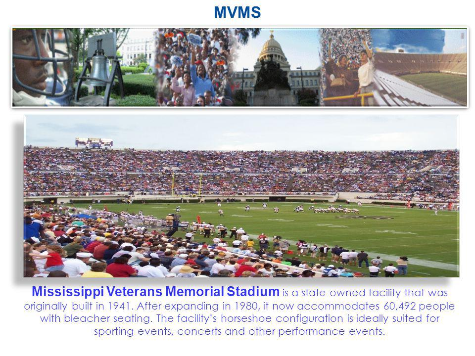 Mississippi Veterans Memorial Stadium is a state owned facility that was originally built in 1941. After expanding in 1980, it now accommodates 60,492