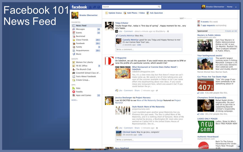 Facebook 101: News Feed
