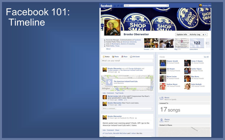 Facebook 101: Timeline