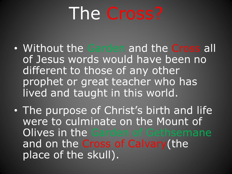 The Cross.