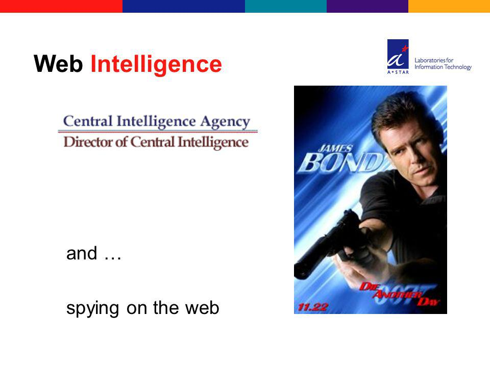 and … spying on the web Web Intelligence