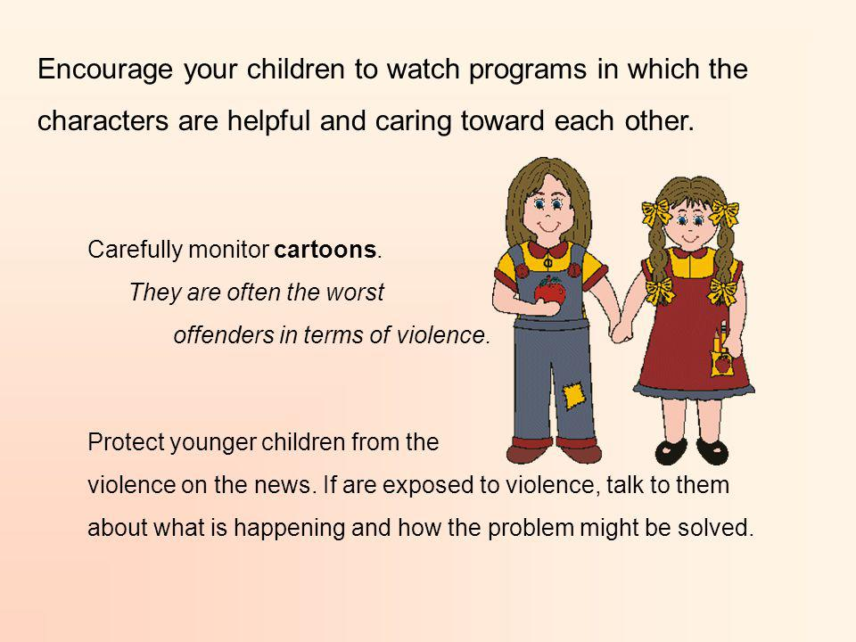 Give your children a TV allowance. Help them make decisions on how to spend the hours they are allotted. Present a good role model by limiting your ow