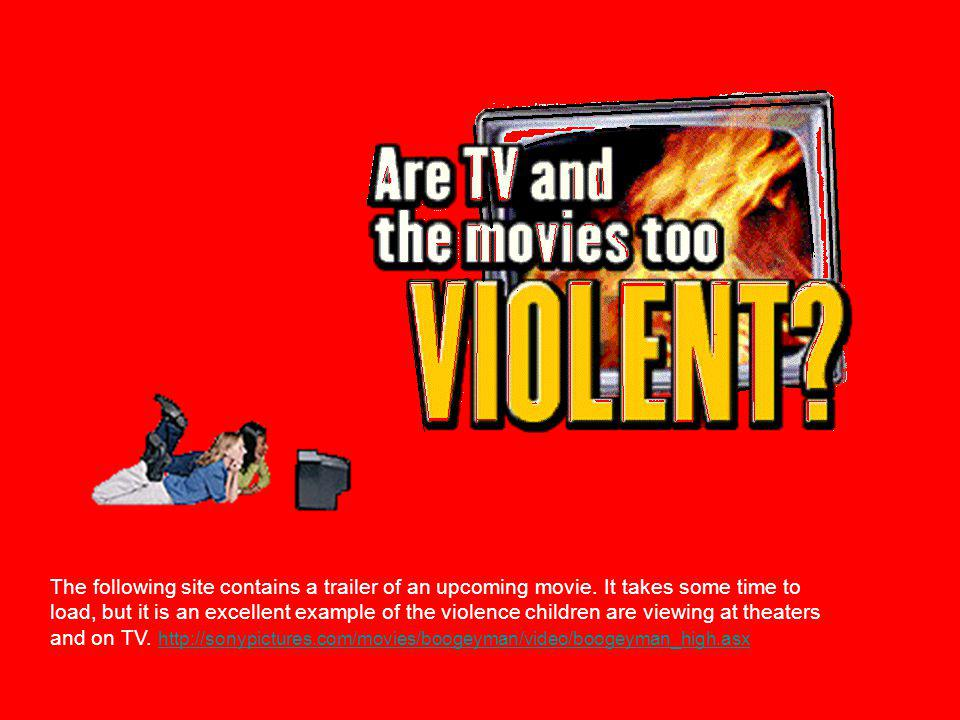 The Effects of Television Violence on our Children Jenny Hanson Fall 2004