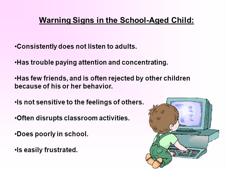 The next two slides present Warning Signs parents should watch for that will tell them if their child is spending too much time engaged in questionabl