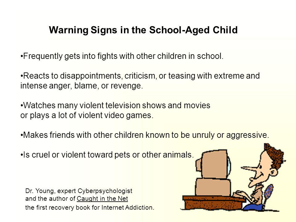 Warning Signs in the School-Aged Child: Consistently does not listen to adults. Has trouble paying attention and concentrating. Has few friends, and i