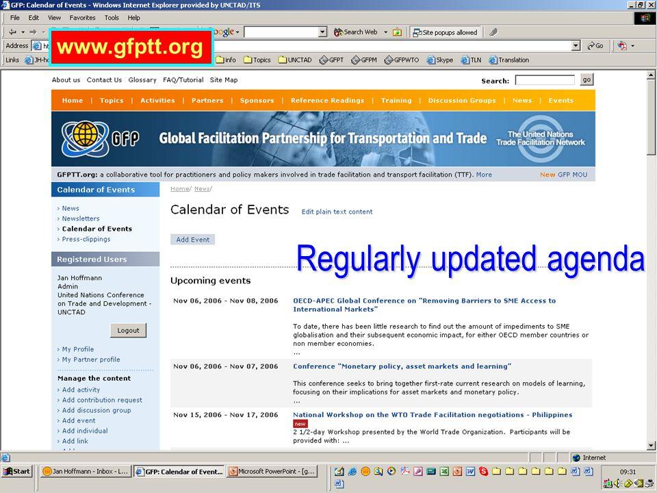 www.gfptt.org Regularly updated agenda