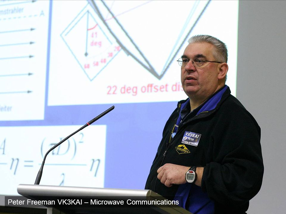 Peter Freeman VK3KAI – Microwave Communications