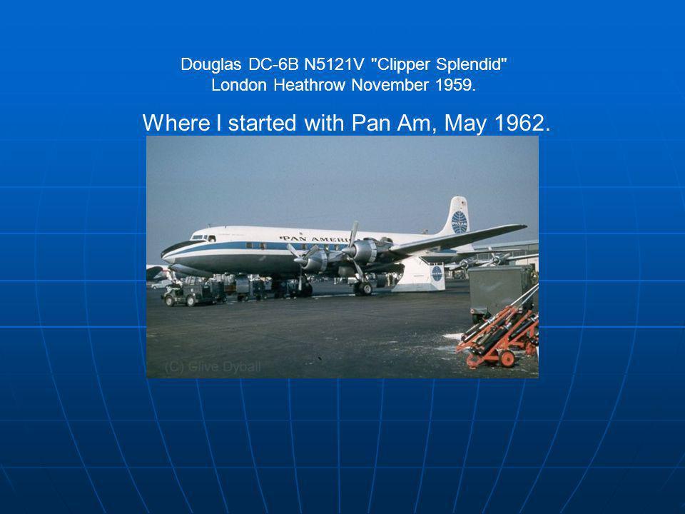 Douglas DC-6B N5121V Clipper Splendid London Heathrow November 1959.