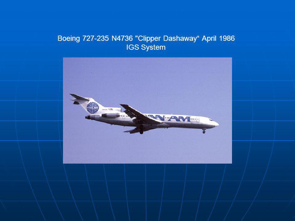 Boeing 727-235 N4736 Clipper Dashaway April 1986 IGS System