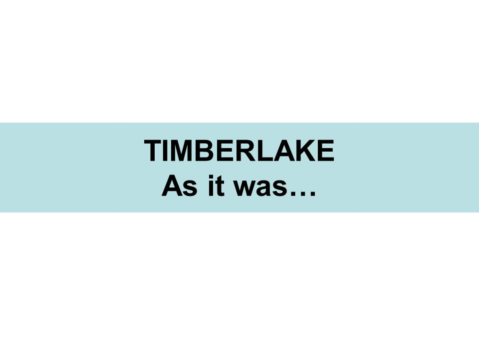 TIMBERLAKE As it was…