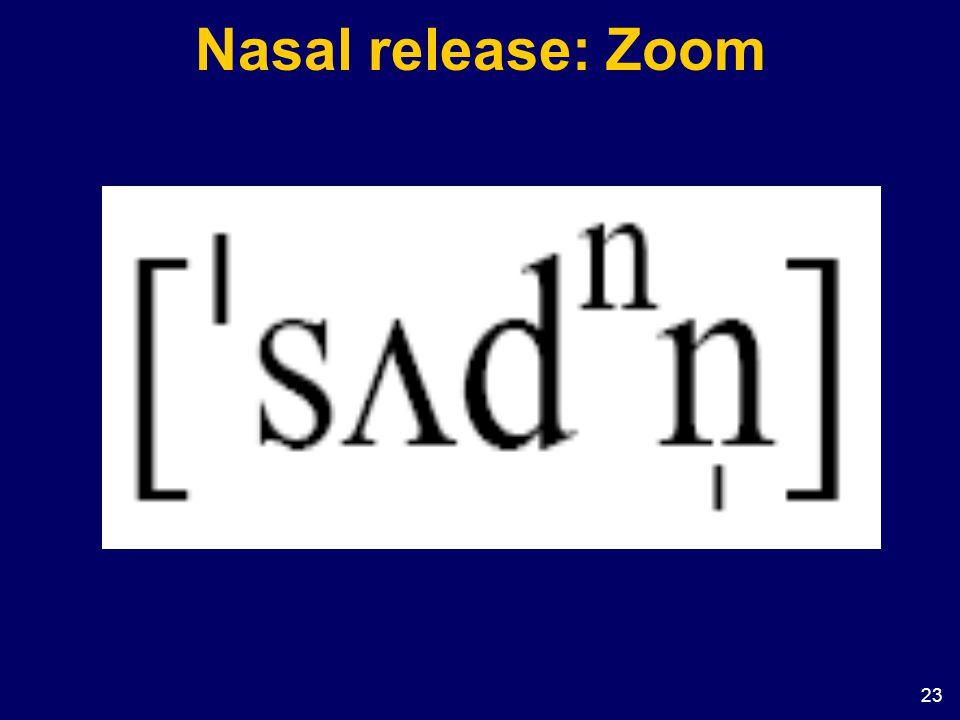 23 Nasal release: Zoom
