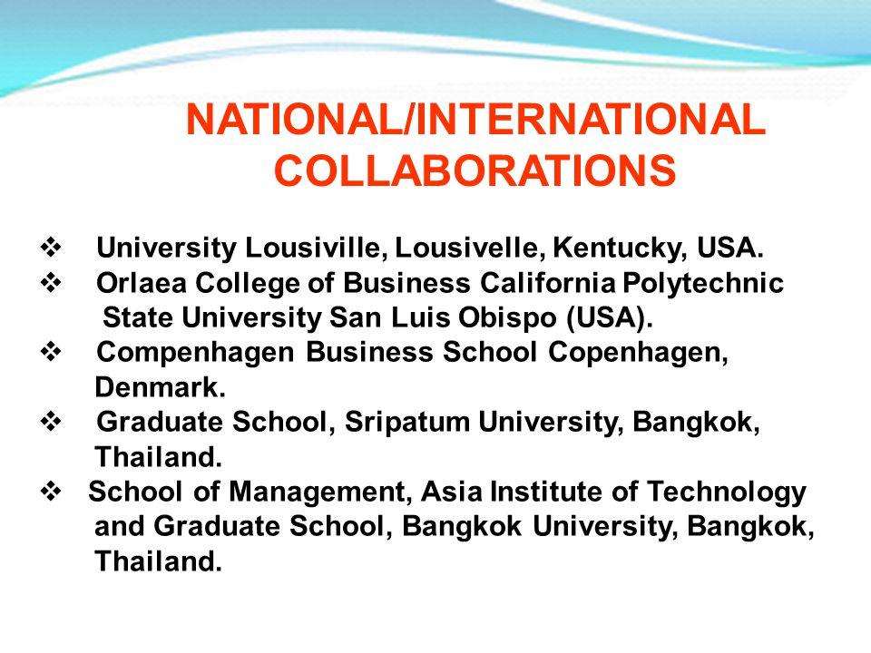 University Lousiville, Lousivelle, Kentucky, USA. Orlaea College of Business California Polytechnic State University San Luis Obispo (USA). Compenhage