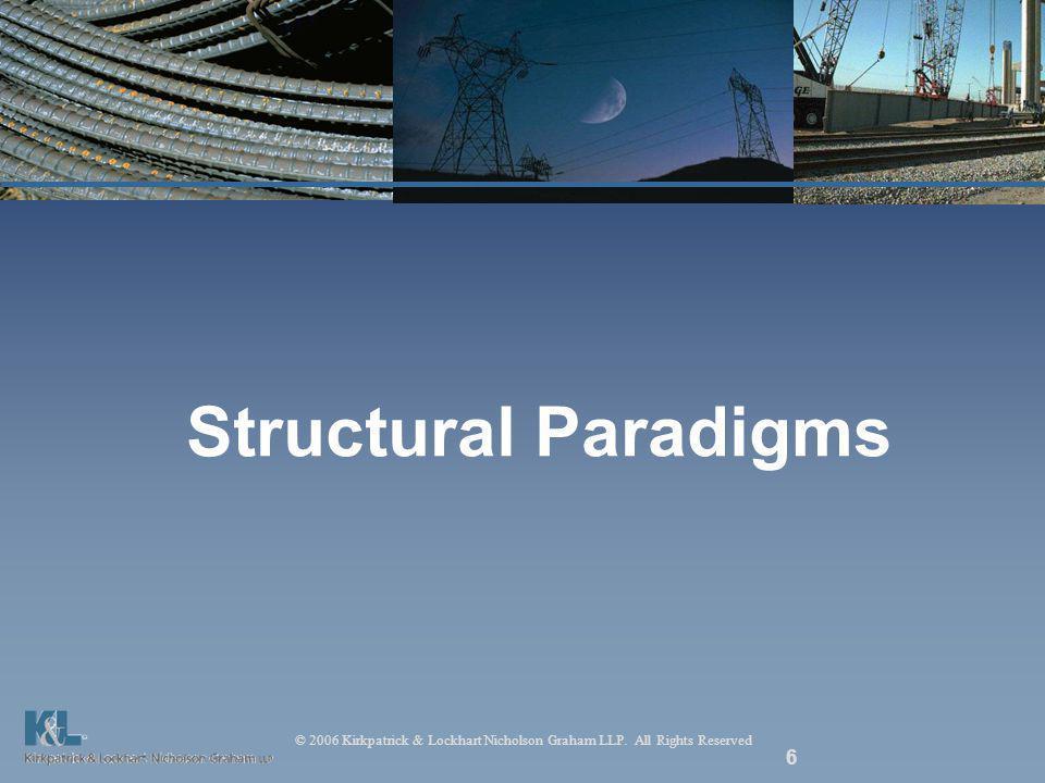 © 2006 Kirkpatrick & Lockhart Nicholson Graham LLP. All Rights Reserved 6 Structural Paradigms