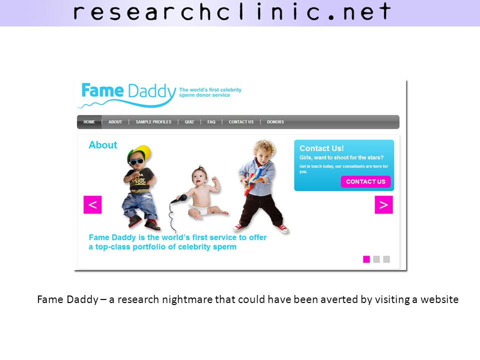 Fame Daddy – a research nightmare that could have been averted by visiting a website