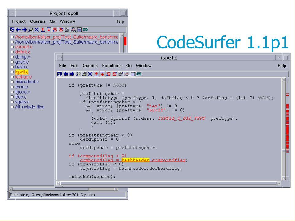 9 CodeSurfer 1.1p1