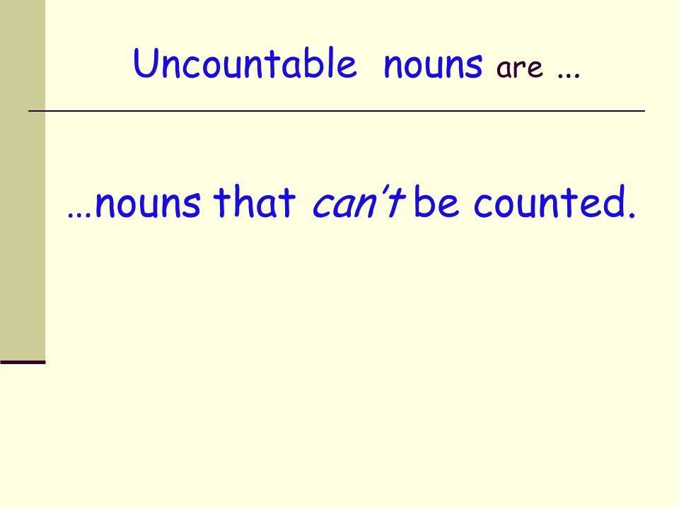 Types of nouns Nouns Proper Nouns Pronouns Countable Nouns Uncountable Nouns Singular No plural
