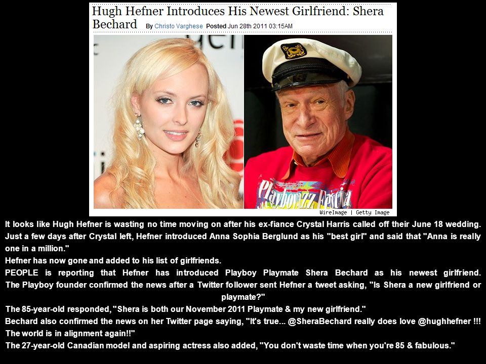 Music: Abba s Dancing Queen Click to Advance Slides Hugh Hefner s Newest Girlfriend.