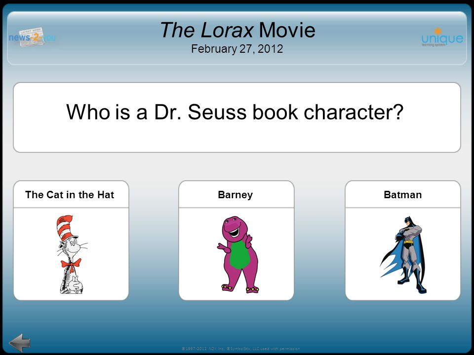 How do you like to celebrate reading? 8 Inside The Lorax, the Book Think of ways you can celebrate in your classroom. Can you think of someone to invi
