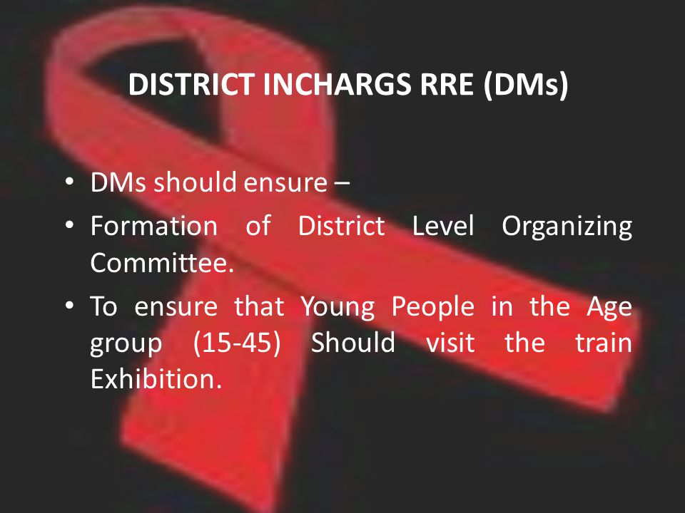 DISTRICT INCHARGS RRE (DMs) DMs should ensure – Formation of District Level Organizing Committee.