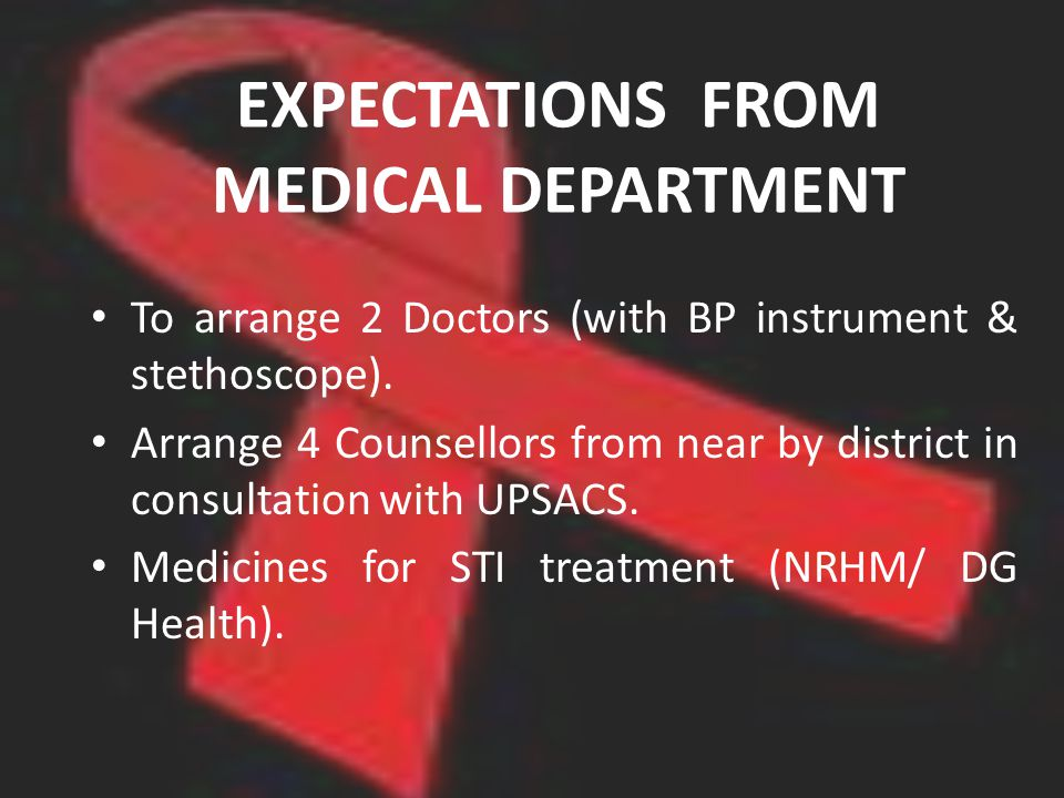 EXPECTATIONS FROM MEDICAL DEPARTMENT To arrange 2 Doctors (with BP instrument & stethoscope).