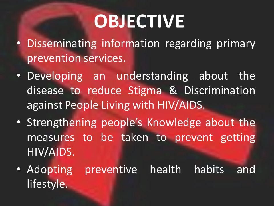 OBJECTIVE Disseminating information regarding primary prevention services.
