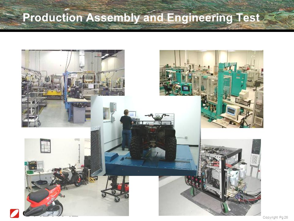 Copyright Pg 26 Production Assembly and Engineering Test