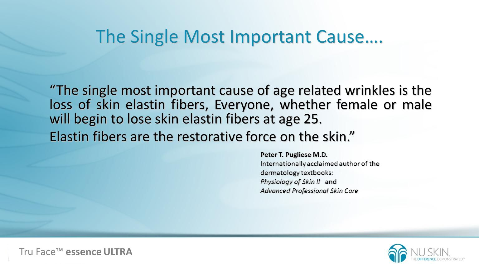 The Single Most Important Cause…. Peter T. Pugliese M.D. Internationally acclaimed author of the dermatology textbooks: Physiology of Skin II and Adva