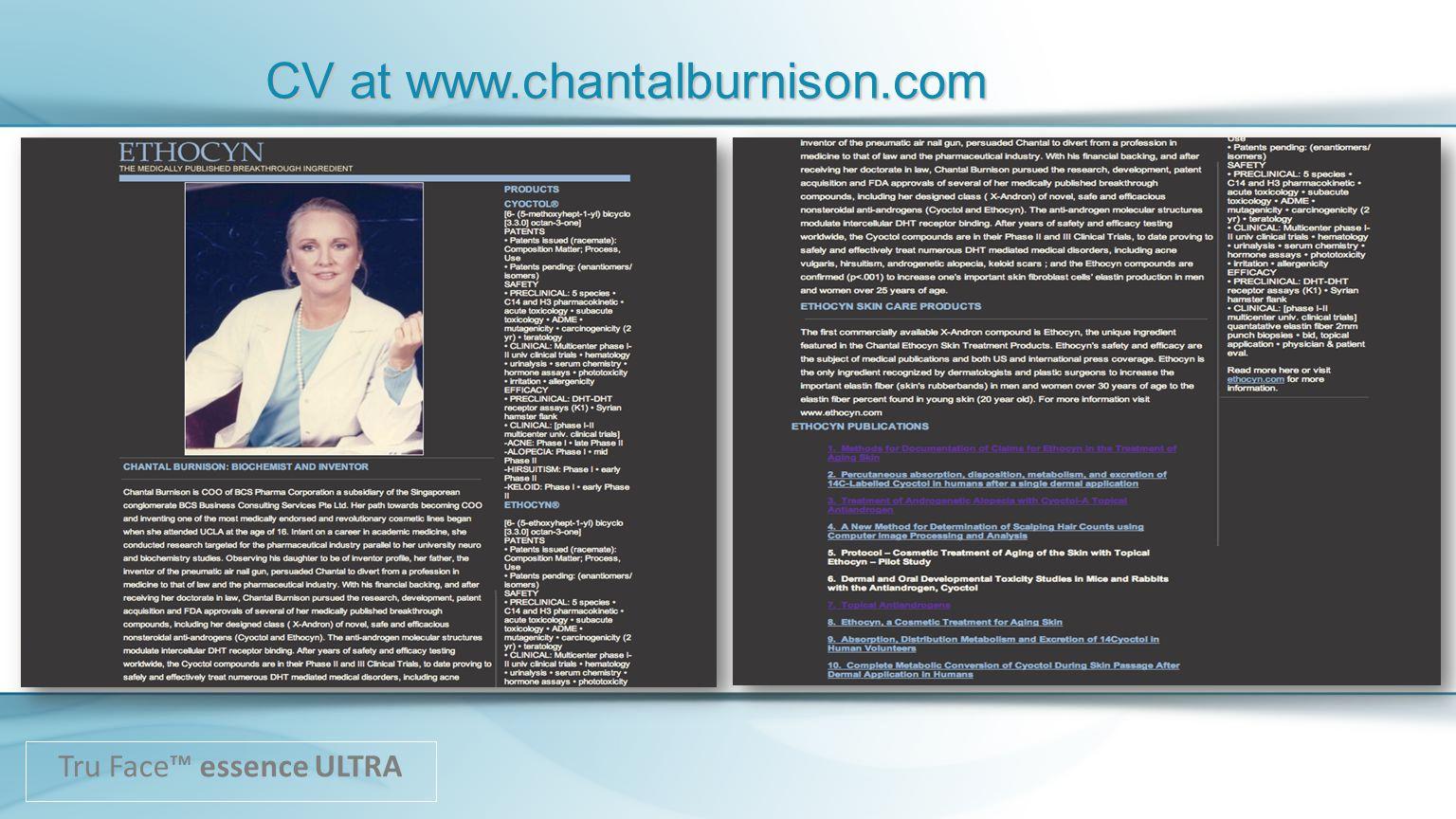 CV at www.chantalburnison.com