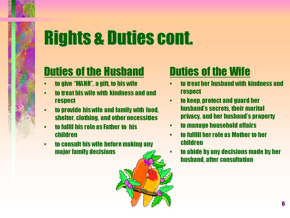 6 Rights & Duties cont.