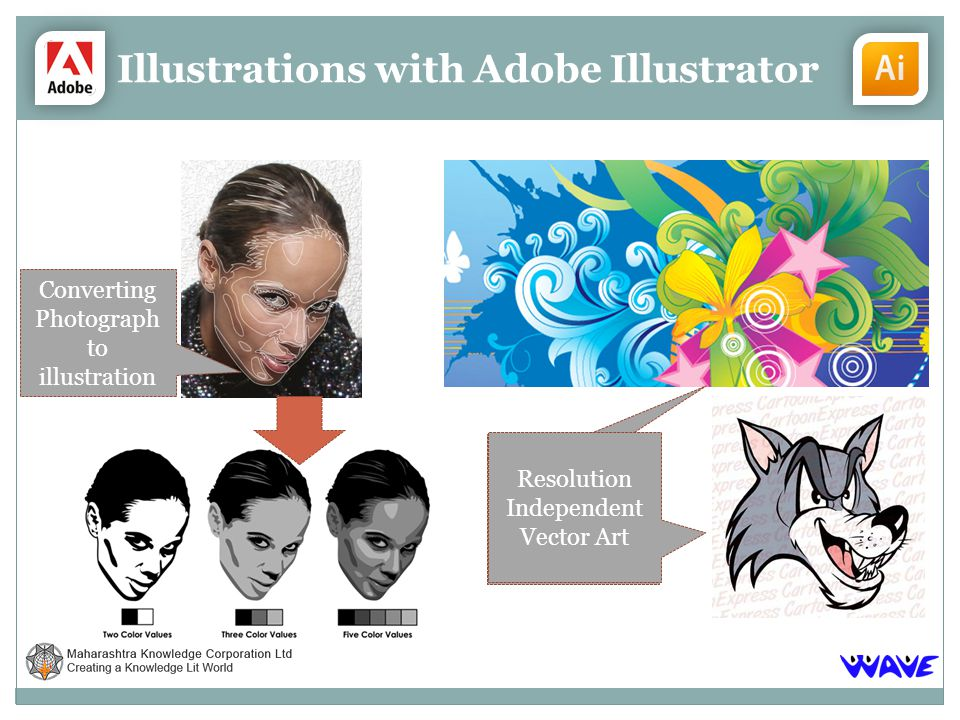 Illustrations with Adobe Illustrator Converting Photograph to illustration Resolution Independent Vector Art