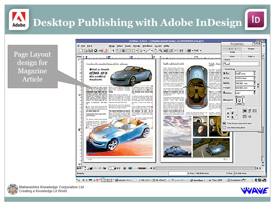 Desktop Publishing with Adobe InDesign Page Layout design for Magazine Article