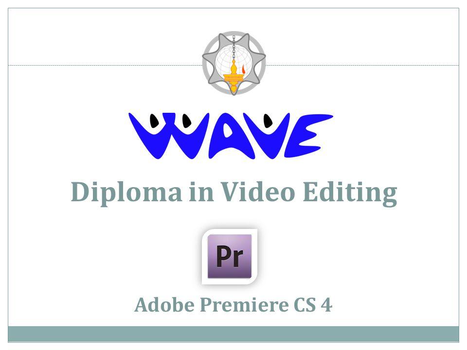 Diploma in Video Editing Adobe Premiere CS 4
