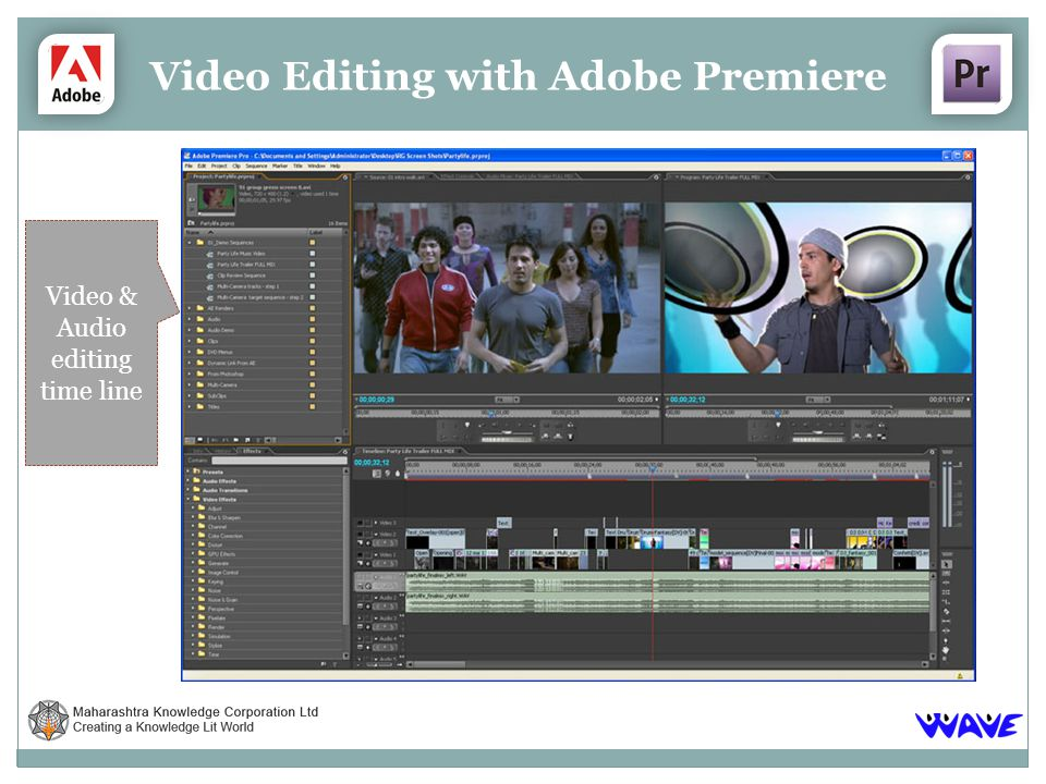 Video Editing with Adobe Premiere Video & Audio editing time line