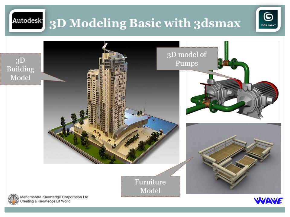 3D Modeling Basic with 3dsmax 3D Building Model 3D model of Pumps Furniture Model