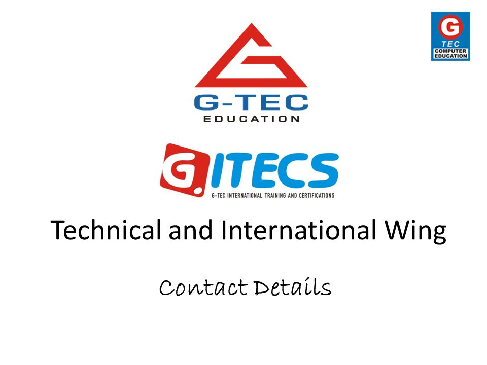 Technical and International Wing Contact Details
