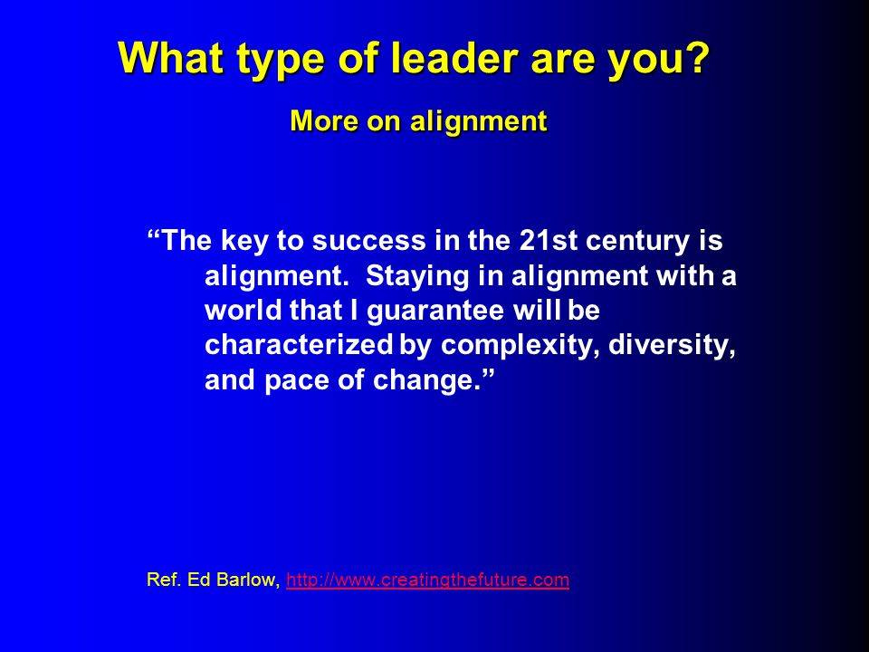 What type of leader are you. More on alignment What type of leader are you.