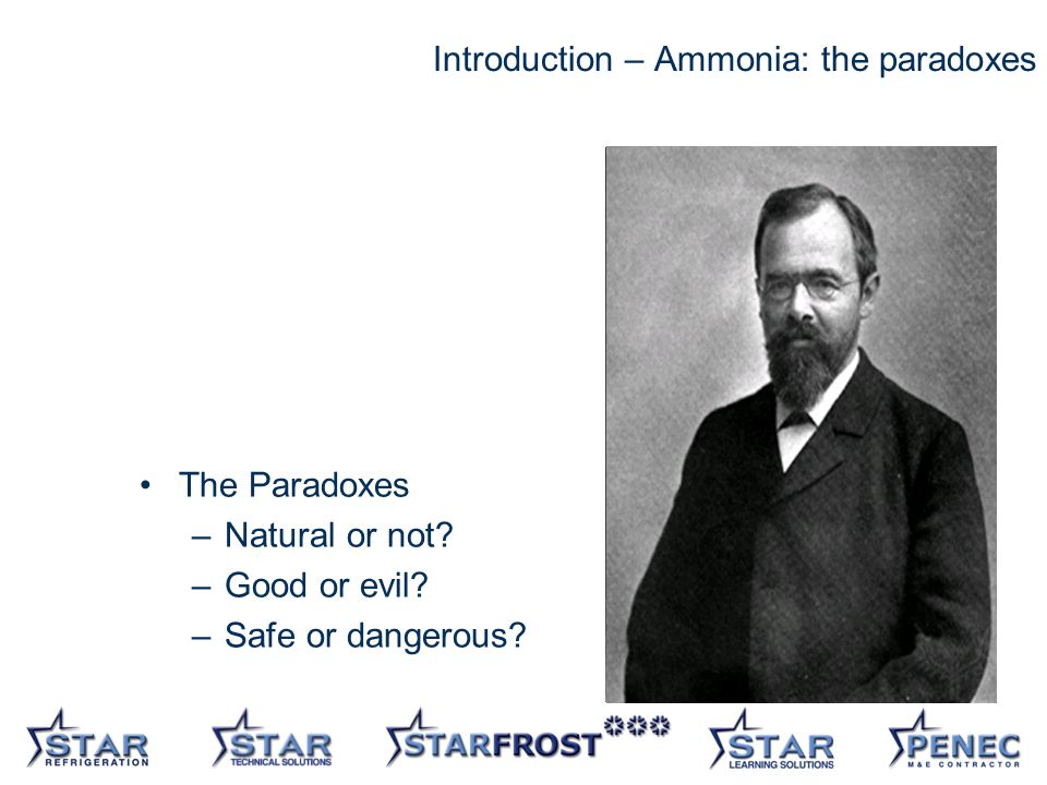 2 Introduction – Ammonia: the paradoxes The Paradoxes –Natural or not.