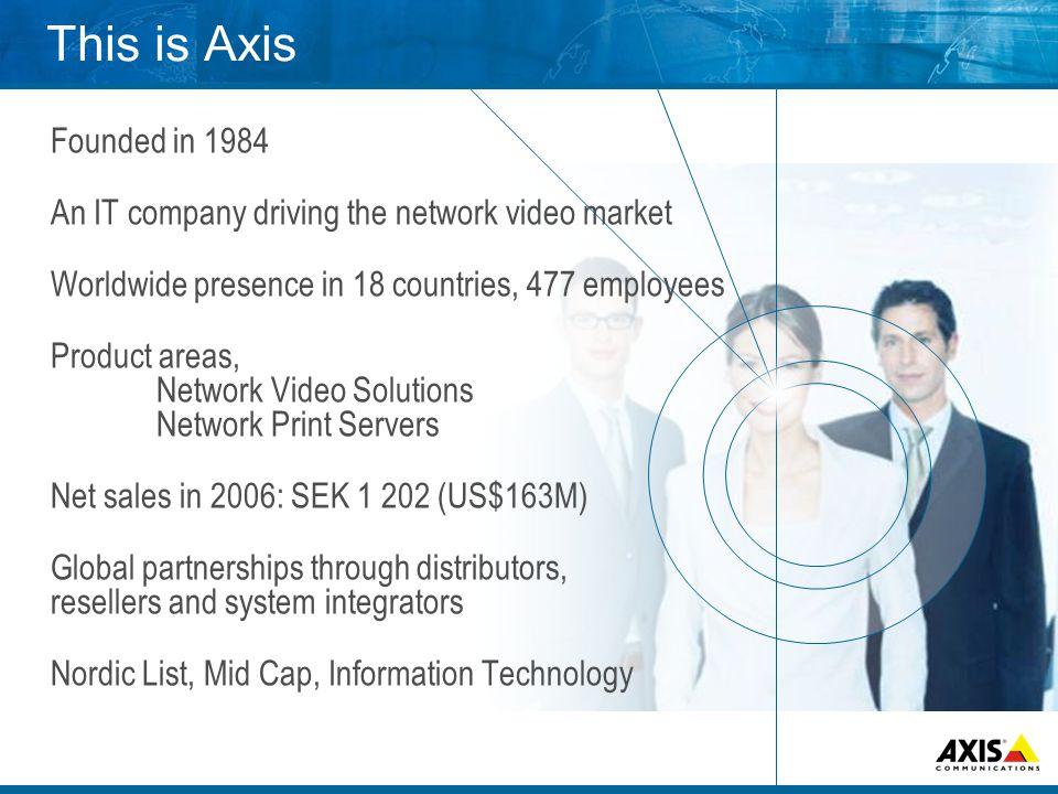 Global distribution and sales Distributors ResellersSystem integrators End user