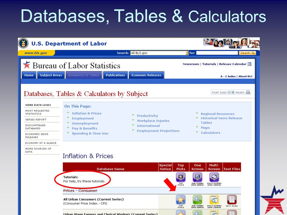 Databases, Tables & Calculators
