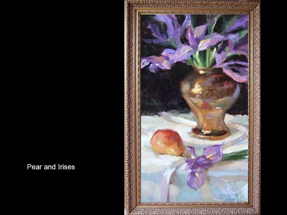 Orchids in Iridescent Vase