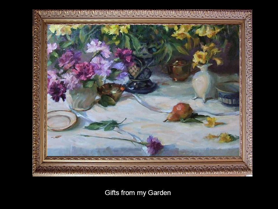 Gladys credits her growth as an artist to the years of study and guidance under Daniel F Gerhartz.