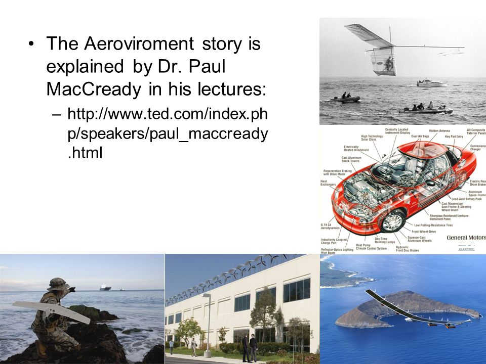 The Aeroviroment story is explained by Dr.