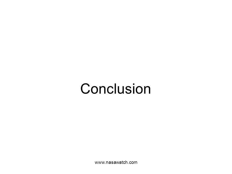 www.nasawatch.com Conclusion