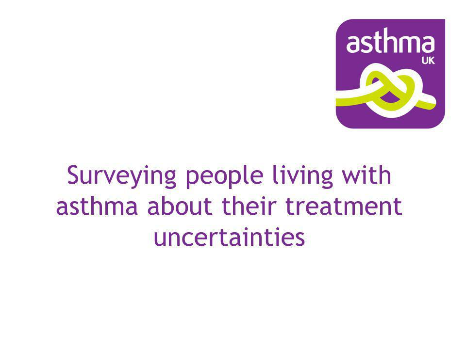 Surveying people living with asthma about their treatment uncertainties