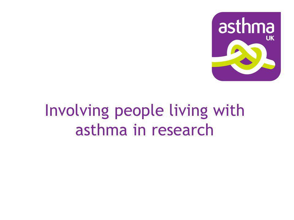 Involving people living with asthma in research