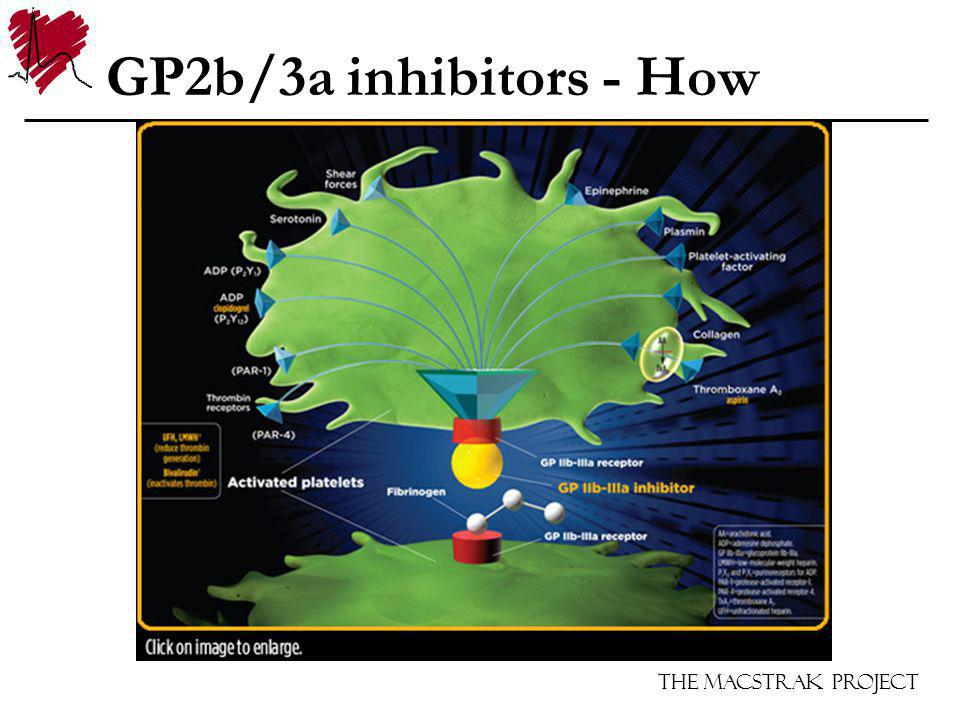 The Macstrak Project GP2b/3a inhibitors - How
