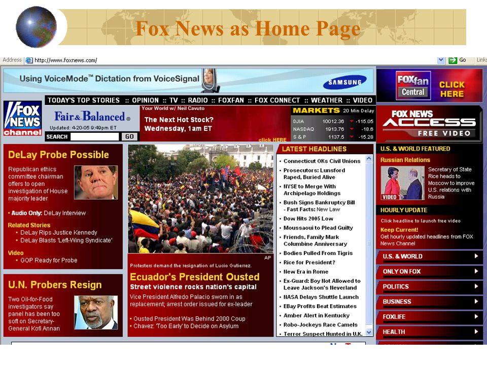 Fox News as Home Page