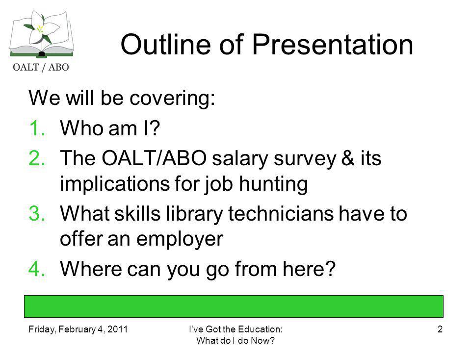 Friday, February 4, 2011Ive Got the Education: What do I do Now.