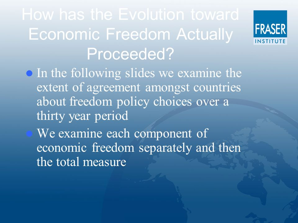 How has the Evolution toward Economic Freedom Actually Proceeded.